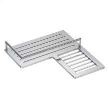 Polished Chrome Combination Corner Shower Shelf - Right