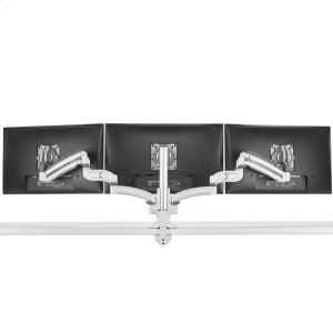 Chief ManufacturingKX Low-Profile Triple Monitor Arms, Column Desk Mount, White