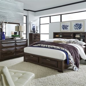 Liberty Furniture IndustriesQueen Storage Bed, Dresser & Mirror