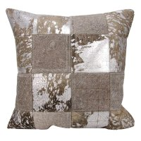 """Couture Nat Hide S6078 Grey/silver 20"""" X 20"""" Throw Pillow Product Image"""