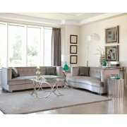 Caldwell Silver Three-piece Living Room Set Product Image