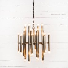 Brushed Pewter Finish Vivienne Chandelier