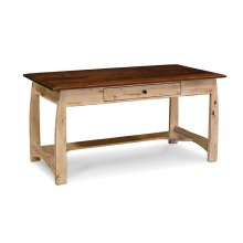 "Aspen Writing Desk with Inlay, 60""w, Character Cherry, Olde World, 2-Tone Option, Top: #32-A1, Rest: #38-A1"