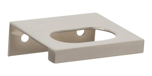Modern Square Edge Tab Pull 1 1/4 Inch (c-c) - Brushed Nickel