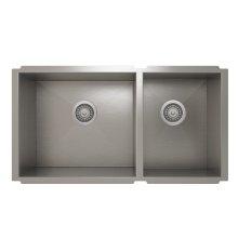 ProInox H0 60/40 Double Bowl Undermount Kitchen Sink ProInox H0 18-gauge Stainless Steel, 30'' X 16''