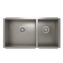 ProInox H0 60/40 Double Bowl Undermount Kitchen Sink ProInox H0 18-gauge Stainless Steel, 30'' X 16''