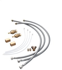 Hose extension set for 3-hole basin mixer
