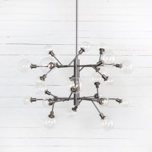 Matte Natural Finish Pellman 2 Tier Chandelier