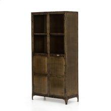 Aged Brass Finish Element Cabinet