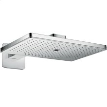 Chrome Overhead shower 460/300 3jet with shower arm and softcube escutcheon