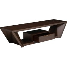 Angled Entertainment Console