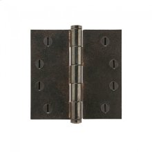 "Plain Bearing Extruded Hinge - 4"" x 4"" Silicon Bronze Brushed"