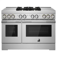 "RISE 48"" Dual-Fuel Professional Range with Dual Chrome-Infused Griddles"