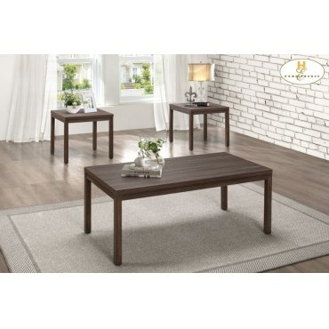 3-Piece Occasional Tables with Melamine Top Cocktail Table: 46 x 23 x 18H End Table: 22 x 22 x 20H