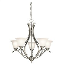 Dover Collection Dover 5 Light Chandelier - Brushed Nickel