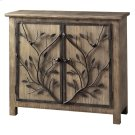 Windcrest Rustic Wood and Metal Tree 2 Door Cabinet Product Image