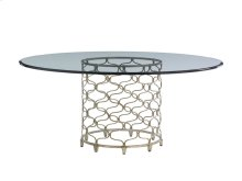 Bollinger Dining Table With Glass Top 54 Inch