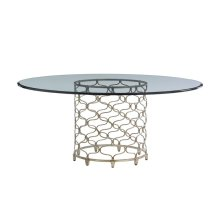 Bollinger Round Dining Table With Glass Top 54 Inch
