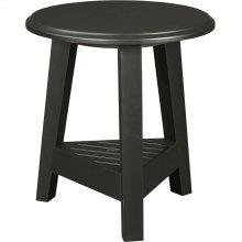 New Vintage Round Lamp Table, Vintage Brown