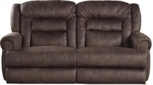 """""""Extra Tall"""" Wall Reclining Console Loveseat w/Stor & Cuphol - Sable"""
