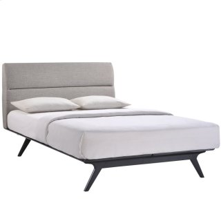 Addison Queen Bed in Black Gray