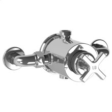 Exposed pressure balance mixing valve