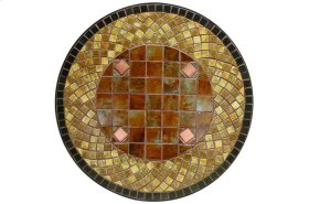 """Dublin 24"""" Round Bistro Table Ceramic Table Top and Iron Base"""