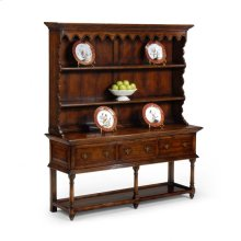 Country Walnut Open Welsh Dresser