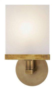 Visual Comfort S2003HAB-WG Studio Shield 1 Light 7 inch Hand-Rubbed Antique Brass Bath Wall Light