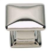 Alcott Square Knob 1 1/4 Inch - Polished Nickel