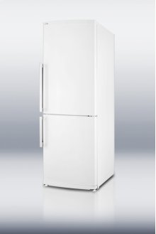 Counter depth bottom freezer refrigerator in white with large capacity and deluxe interior