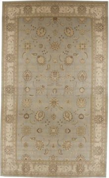 Hard To Find Sizes Persian Empire Pe22 Aqua Rectangle Rug 6'6'' X 10'