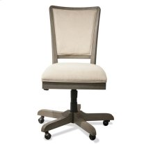 Vogue Upholstered Desk Chair Gray Wash finish