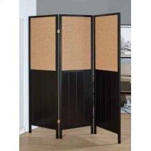 Traditional Black Three-panel Folding Screen