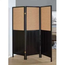 Traditional Black Three-panel Folding Screen