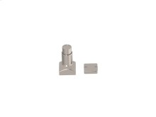 Magnetic Square Hardware In Polished Nickel