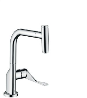 Chrome Single lever kitchen mixer with pull-out spout Product Image