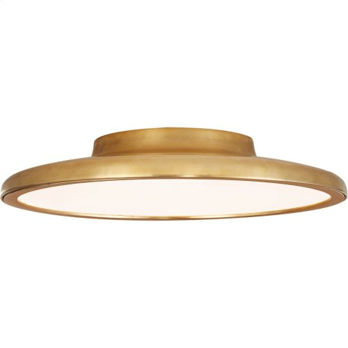 Visual Comfort PB4000NB Peter Bristol Dot LED 14 inch Natural Brass Flush Mount Ceiling Light