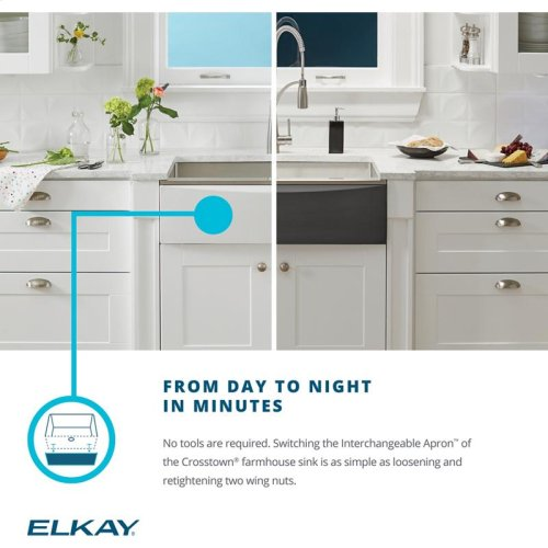 Elkay Crosstown Stainless Interchangeable Apron, Sapphire