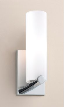 FLUORESCENT CLIK 1 SCONCE - BRUSHED NICKEL