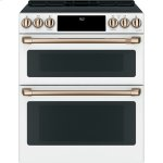 "Cafe30"" Slide-In Front Control Induction and Convection Double Oven Range"