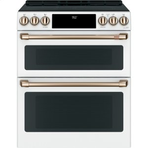 "GE30"" Smart Slide-In, Front-Control, Induction and Convection Double-Oven Range"