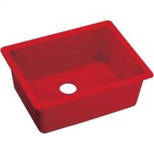 "Elkay Quartz Luxe 24-5/8"" x 18-1/2"" x 9-1/2"", Single Bowl Undermount Sink, Maraschino"