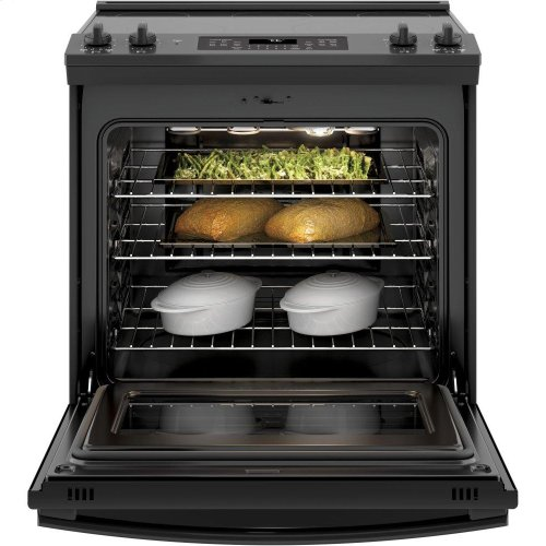 """GE® 30"""" Slide-In Electric Convection Range"""