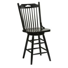 "Windswept Farmhouse 24""h Swivel Barstool"