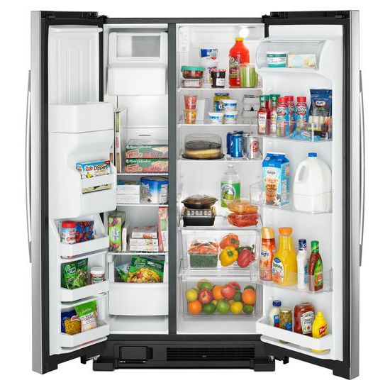 Amana 36 Inch Side By Side Refrigerator With Dual Pad External Ice And