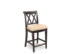 Splat Back Uph. Bar Stool