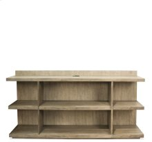 Perspectives Peninsula Bookcase Sun-Drenched Acacia finish
