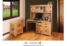 Home Office Small Desk w/3 drawers, 1 door & Keyboard Tray