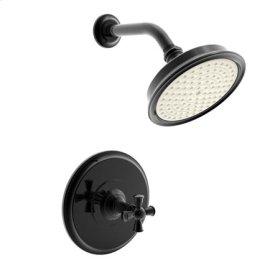 Gloss Black Balanced Pressure Shower Trim Set